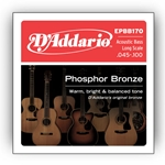 D'Addario EPBB170 Phosphor Bronze Acoustic Bass Strings, Long Scale