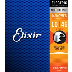 Elixir 12052 Electric Nickel Plated Steel Nanoweb, Light