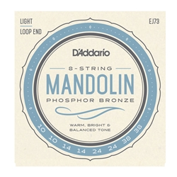 D'Addario EJ73 Phosphor Bronze Mandolin Strings, Light